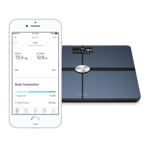 bio-impedancemetry body composition analyzer / for fat mass measurement / with digital display / wireless