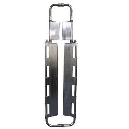 scoop stretcher / emergency / folding / aluminum