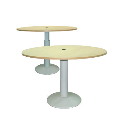 dining table / round / height-adjustable