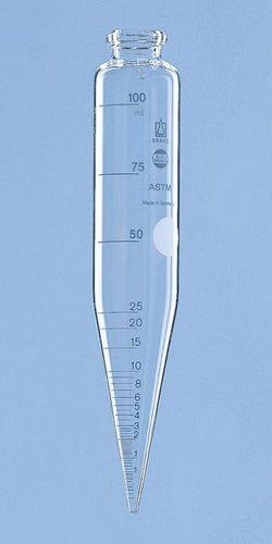 centrifuge sample tube / cone-bottom / borosilicate glass