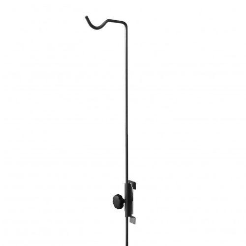rail-mounted IV pole / 1-hook / animal cage