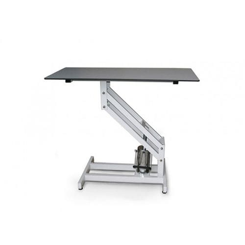 hydraulic examination table / height-adjustable / 1 section