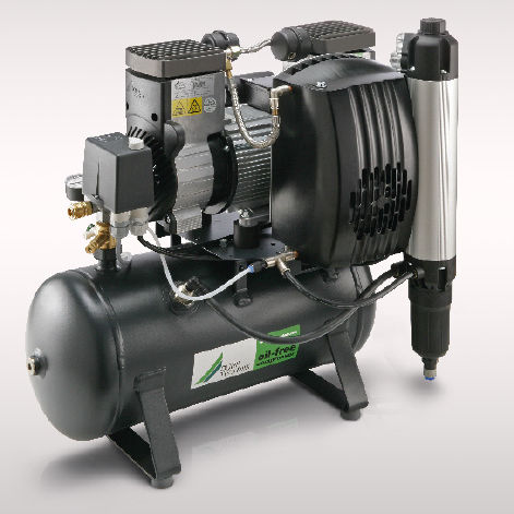 air compressor with air dryer / oil-free / membrane / gear