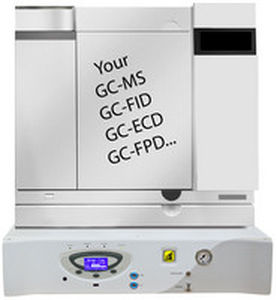 hydrogen generator / air / for gas chromatography / for mass spectrometers