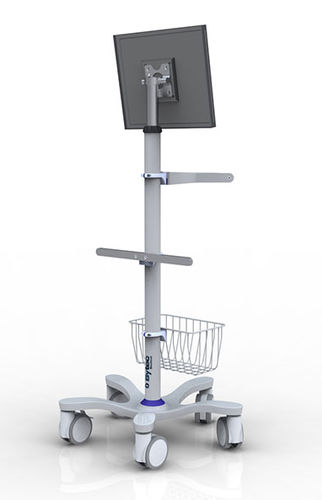 monitor support pole on casters