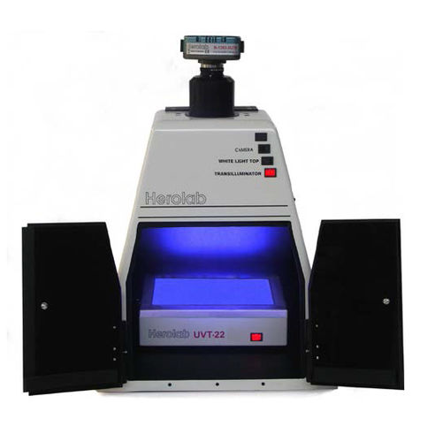 gel documentation system with CCD camera / with transilluminator / with dark hood