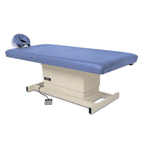 electric massage table / height-adjustable / with headrest / 1-section