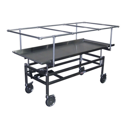 concealment trolley / mortuary / with tray / bariatric