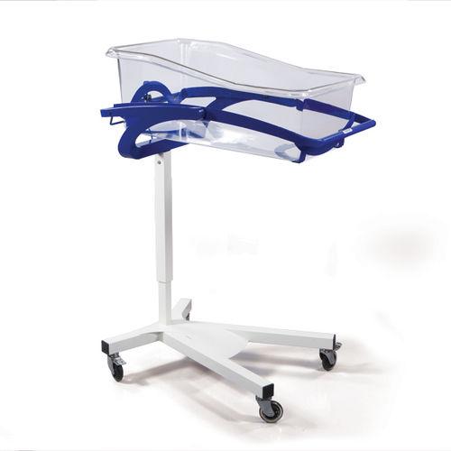 Trendelenburg hospital bassinet / height-adjustable / reverse Trendelenburg / transparent