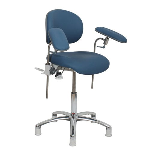 height-adjustable blood collection chair / on casters