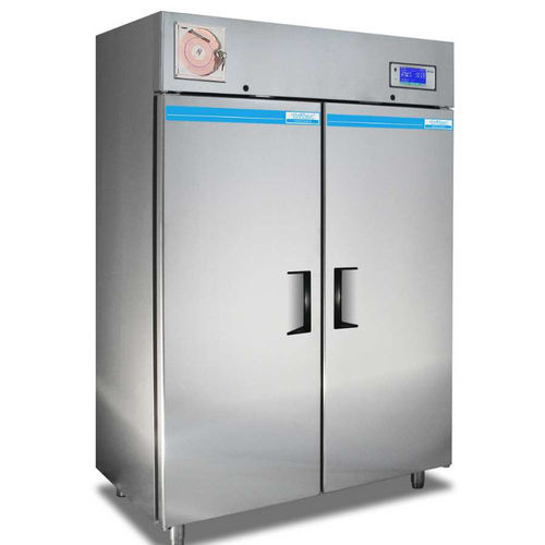 blood plasma freezer / upright / with automatic defrost / stainless steel