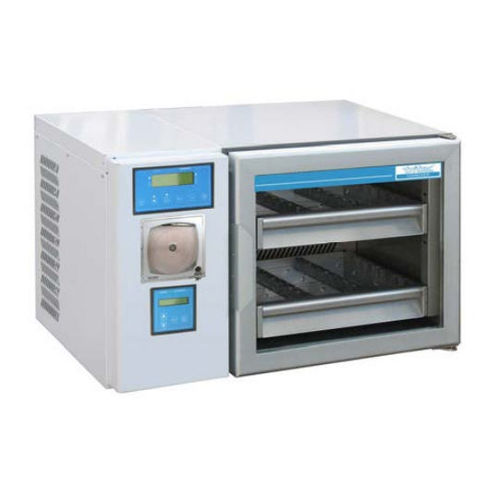 blood bank refrigerator / bench-top / with automatic defrost / stainless steel