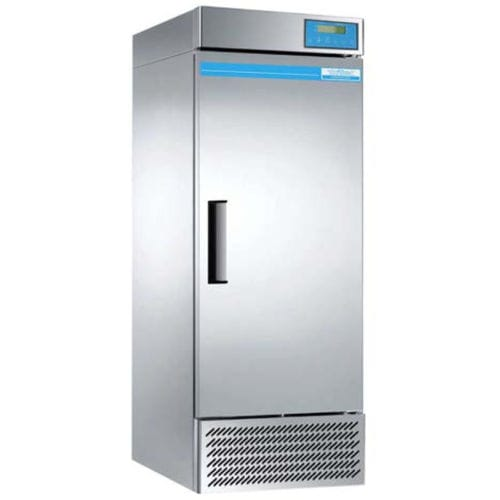 laboratory refrigerator / cabinet / with automatic defrost / stainless steel