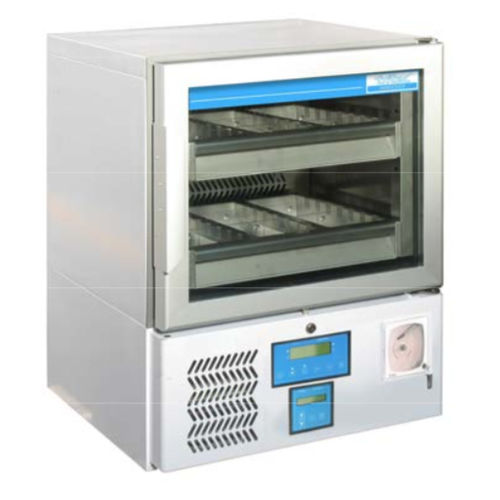 blood bank refrigerator / undercounter / with automatic defrost / stainless steel