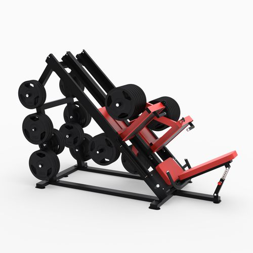 inclined leg press gym station