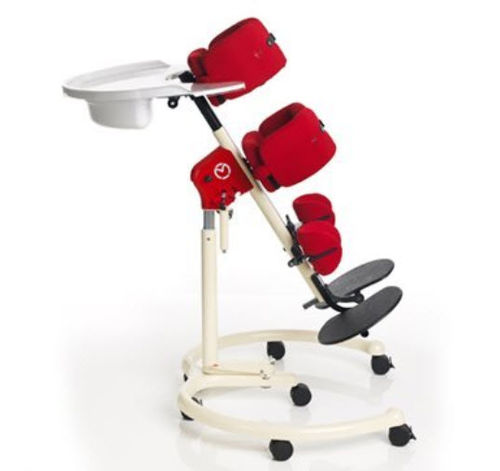 manual stander / on casters / pediatric