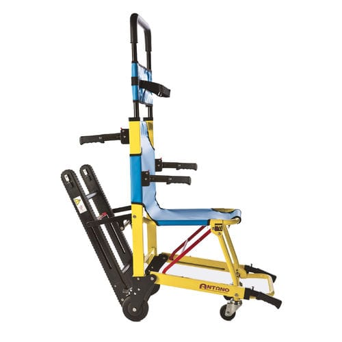 stair-climbing transfer chair / electric / on casters / folding