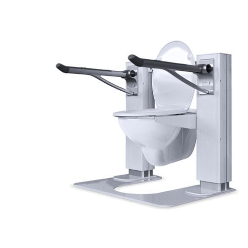 height-adjustable raised toilet seat