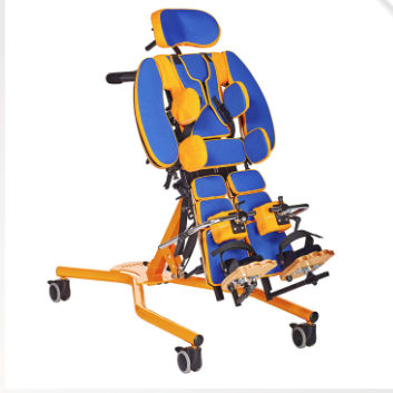 manual stander / walking / with semi-sitting position / pediatric