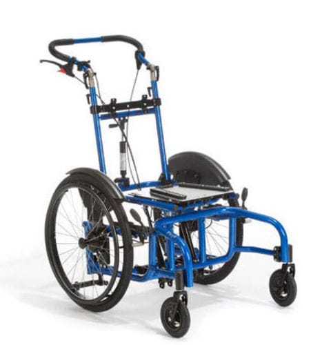 height-adjustable wheelchair frame