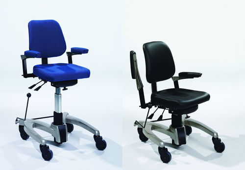 office chair / dining room / with armrests / on casters
