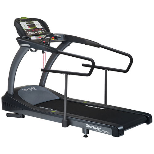 treadmill with handrails