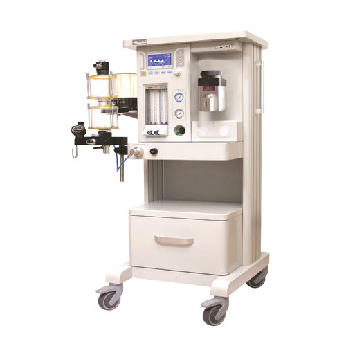 pediatric anesthesia workstation / adult / trolley-mounted / with respiratory monitoring