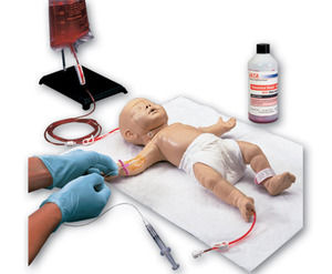 venous vascular access patient simulator / infant / female / whole body