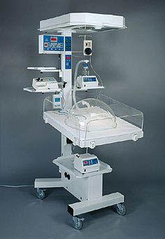 infant radiant warmer with ventilator