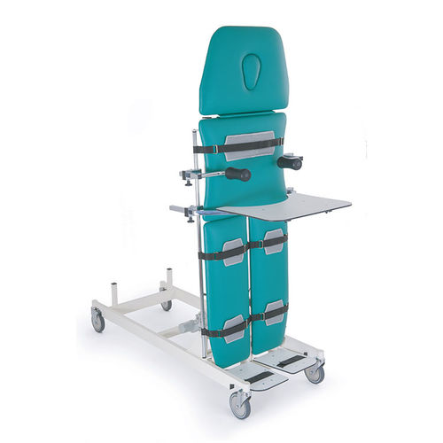 4-section tilt table / therapy / electric / on casters