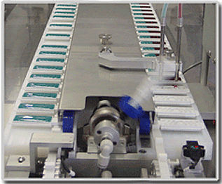 semi-automatic filler / mobile / for conveyors / bottle