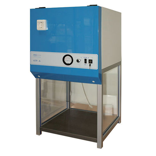 vertical laminar flow fume hood / laboratory / for the pharmaceutical industry / portable