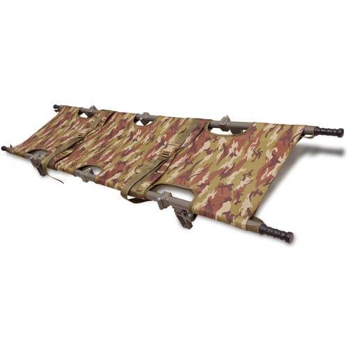 emergency stretcher / folding / military / aluminum