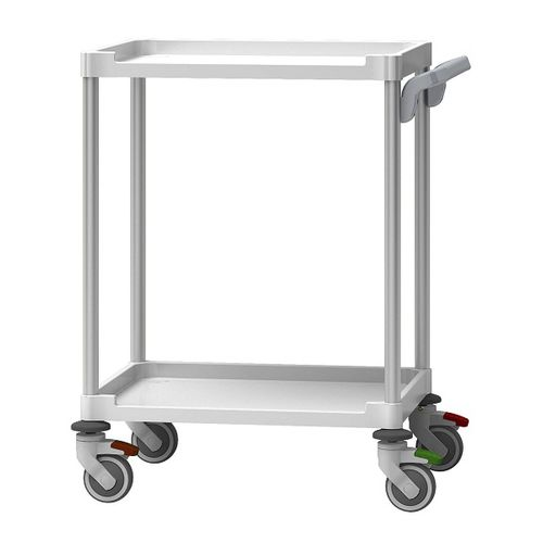 treatment trolley / for instruments / for medical devices / with tray
