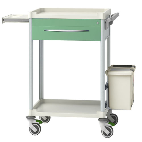 treatment trolley / for instruments / for medical devices / for medicine