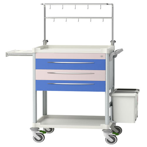 treatment trolley / for instruments / for medicine / with drawer