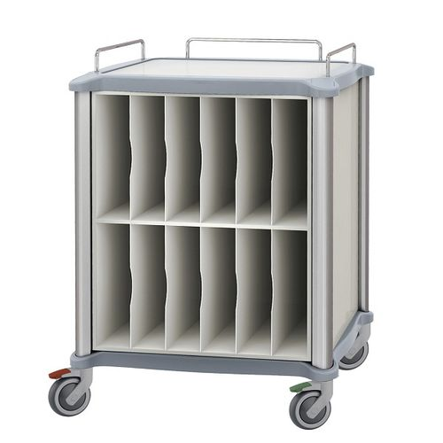 transport trolley / X-ray records / X-ray film / with drawer