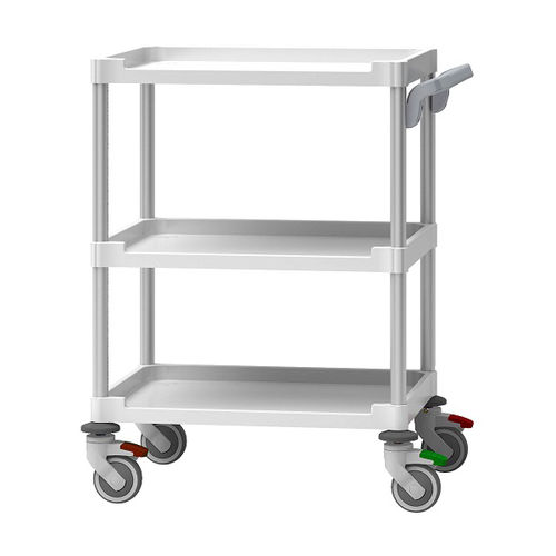 treatment trolley / for instruments / with shelf / medical