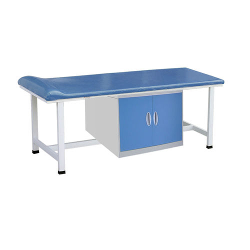 fixed-height examination table / 1 section / with storage unit