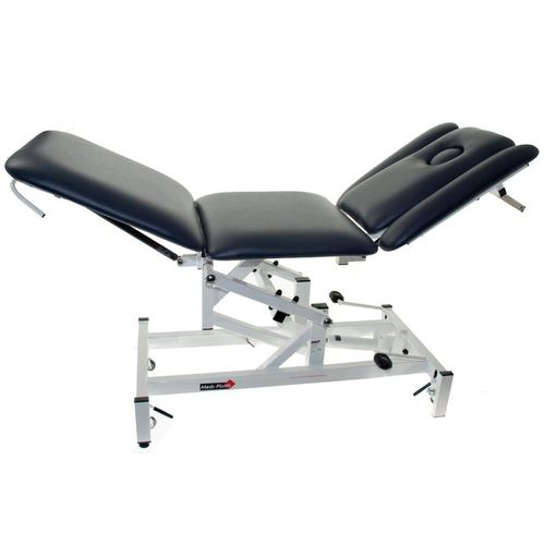 hydraulic massage table / on casters / tilting / height-adjustable