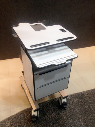 blood donation trolley / transport / medical records / with drawer
