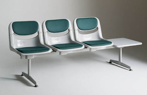 waiting room beam chair / with table / 3-seater