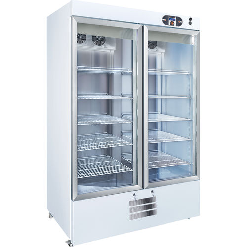 pharmacy refrigerator / cabinet / on casters / with automatic defrost