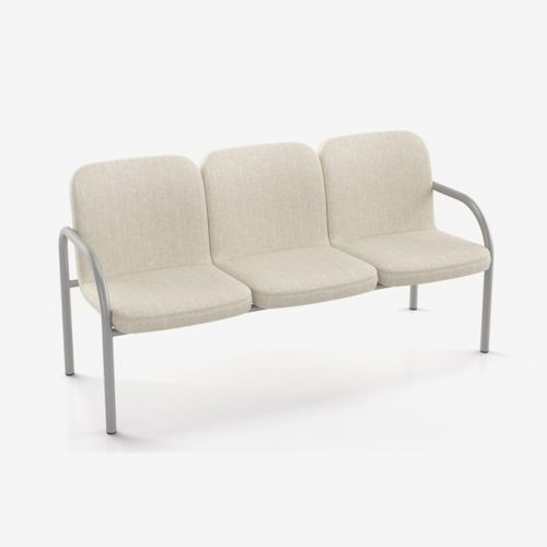 waiting room beam chair / with armrests / 3-seater