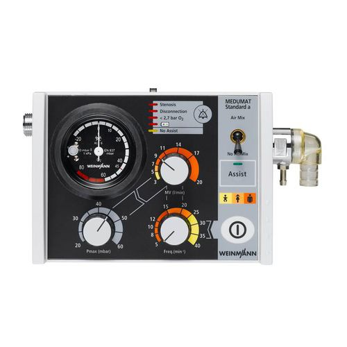 pneumatic ventilator / emergency / transport / CPAP