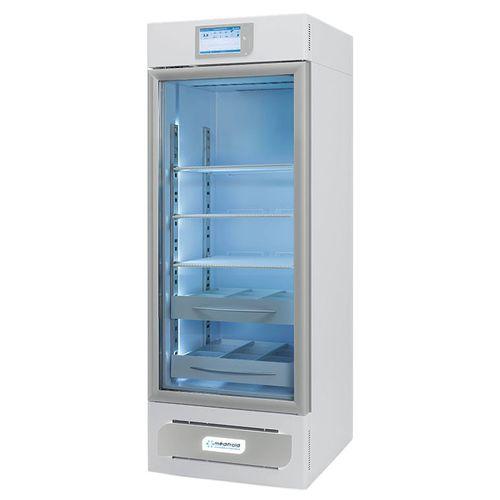 pharmacy refrigerator / cabinet / 1-door / with glass door