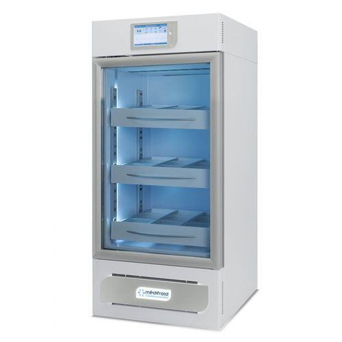 blood bank refrigerator / cabinet / with automatic defrost / with glass door