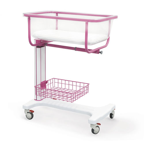 height-adjustable hospital bassinet