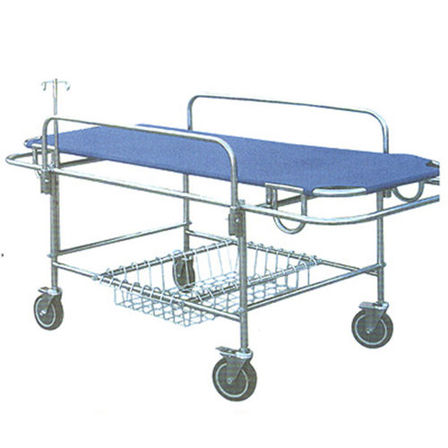 transport stretcher trolley / manual / stainless steel