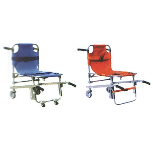 stair-climbing transfer chair / on casters / folding